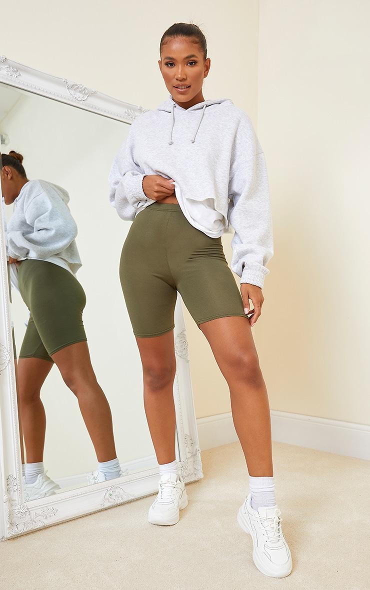 Khaki Basics Bike Shorts