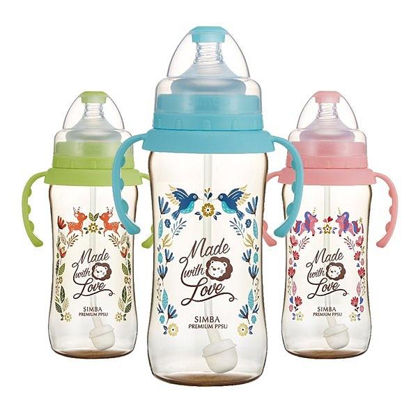 Simba小獅王辛巴 桃樂絲PPSU自動把手寬口葫蘆大奶瓶(360ml) (三色可挑) 336元