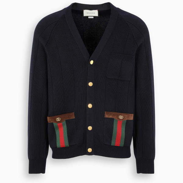 Gucci Knit cardigan with Web