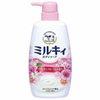日本 牛乳石鹼 牛奶精華沐浴乳-花香粉550ml