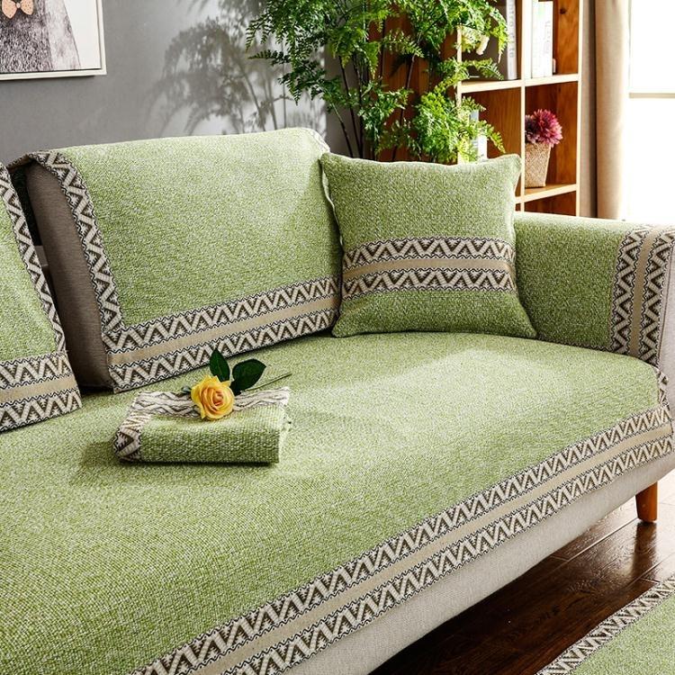 [八折限購][夏日上新]沙發墊四季通用布藝夏防滑棉麻坐墊簡約現代夏季非萬能沙發套全包