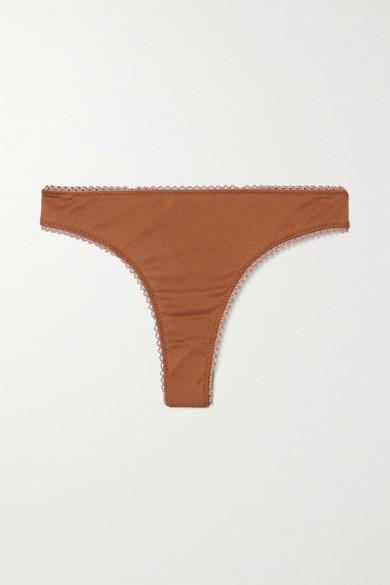 Araks - 【net Sustain】stella 有机纯棉平纹布丁字裤 - 棕色 - large