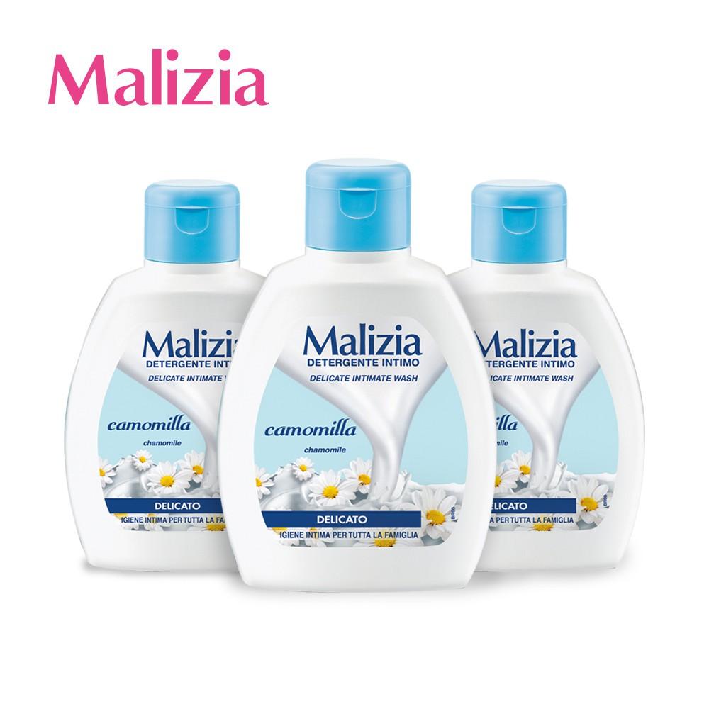 【Malizia 瑪莉吉亞】植萃香氛私密保養沐浴露pH5.5 (柔嫩/呵護) - 洋甘菊200ml (超值三件組)