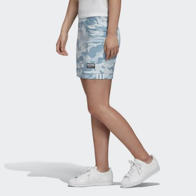 FOCA ADIDAS ORIGINALS skirt 藍色 迷彩 R.Y.V. 短裙 FM2484 愛迪達 合身 窄版