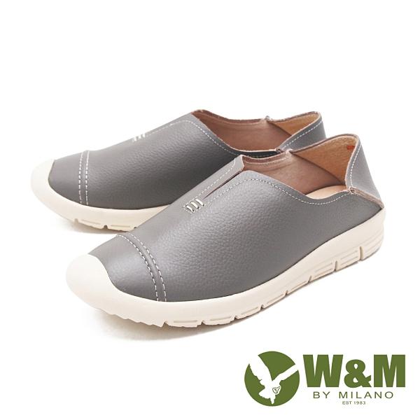 W&M(女)後跟可踩漁夫鞋 自尊鞋 女鞋-灰(另有黑)
