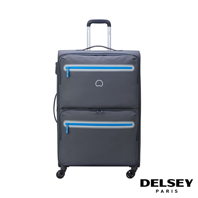 【DELSEY】法國大使 CARNOT-28吋旅行箱-灰色 00303882111