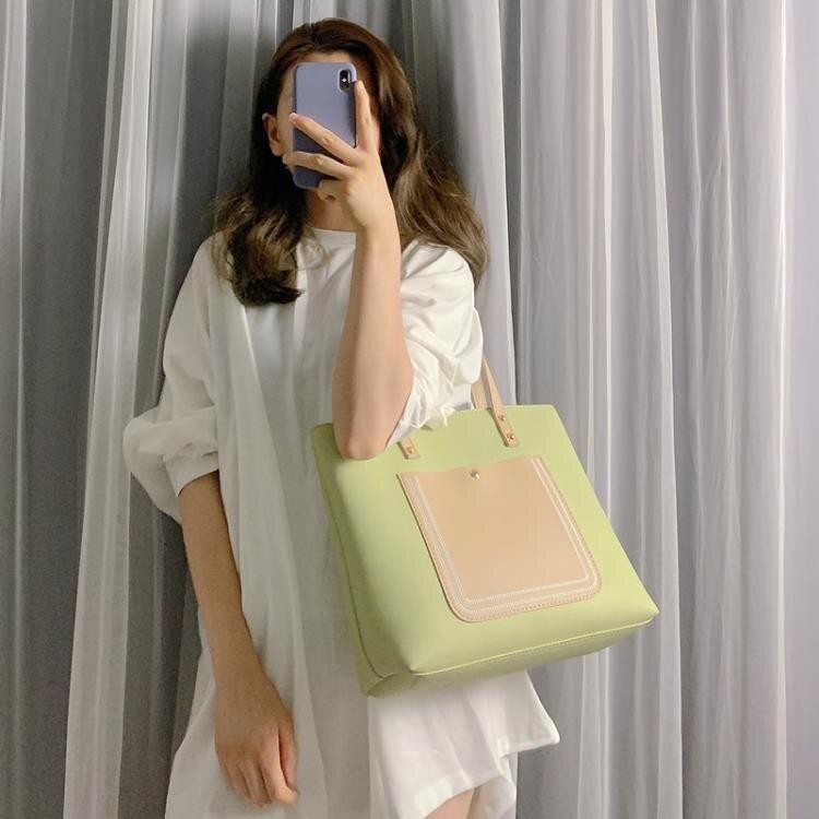 手提包 包包女2020新款潮韓版百搭單肩包大容量托特包學生手提女包子母包