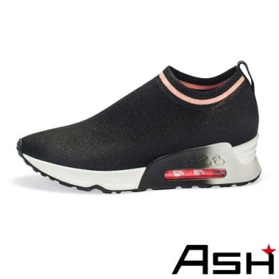 ASH-LOVELESS彈力針織輕量襪套運動鞋-黑