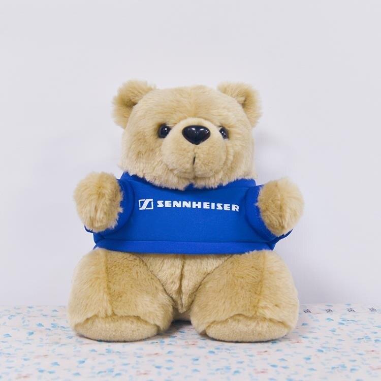 森海塞爾熊絨毛玩具大熊耳機架頭戴耳機通用 高19cm