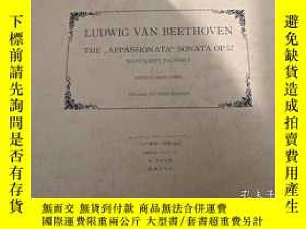 二手書博民逛書店貝多芬自筆草稿罕見手稿 罕見 唯一Y235961 貝多芬 音樂之