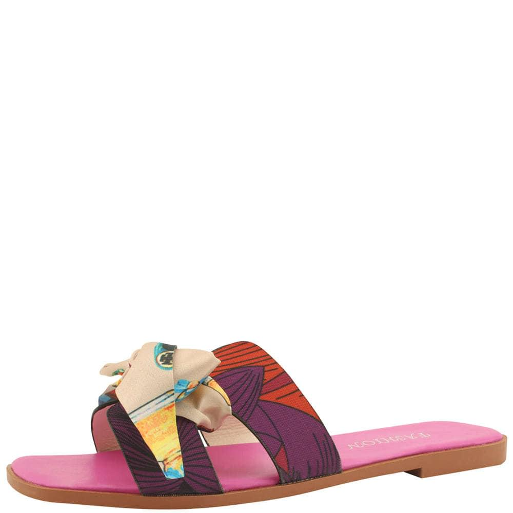 韓國空運 - Silk ribbon slippers pink 涼鞋