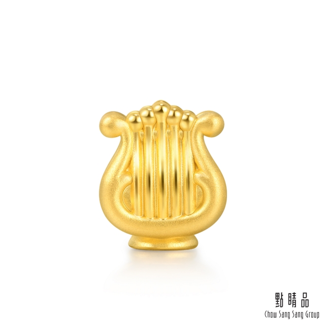 點睛品 Charme 新生彌月-豎琴 黃金串珠