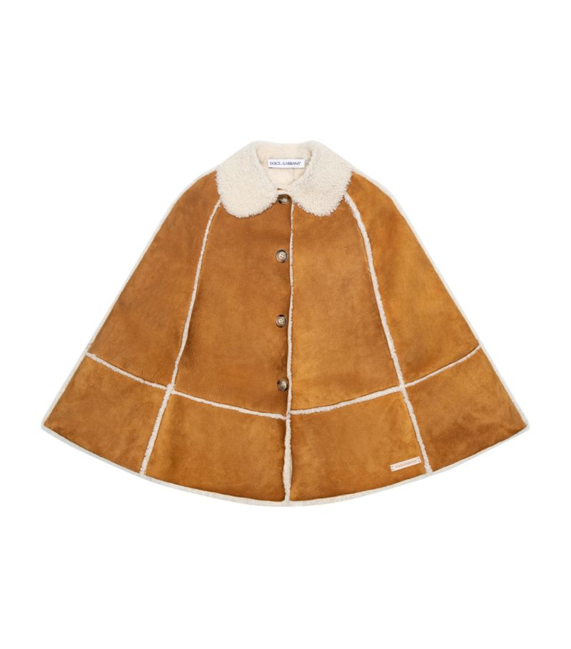 Dolce & Gabbana Kids Leather Cape (2-6 Years)