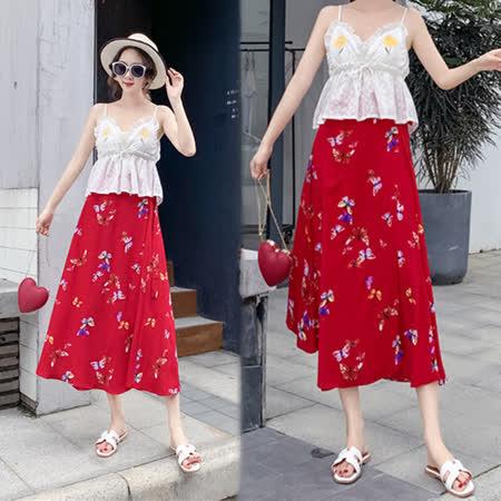 【韓國K.W.】(現貨) F 夏氛低調一片式半身裙