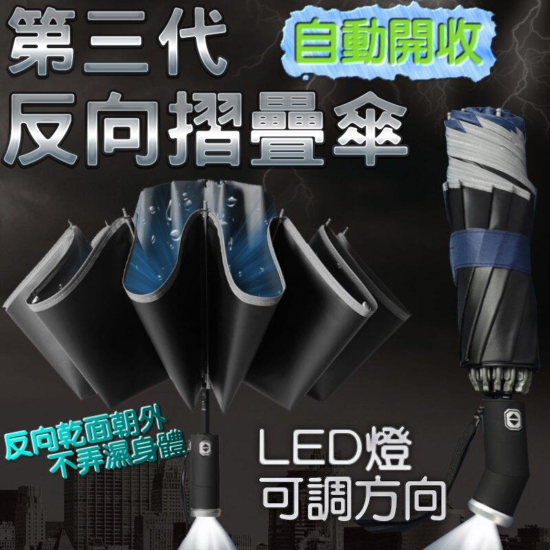 第三代可轉向LED燈加大自動反向傘