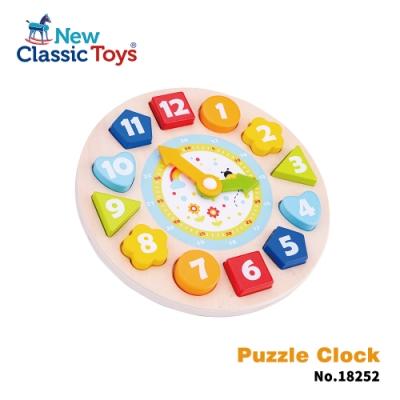 荷蘭New Classic Toys 寶寶形狀學習時鐘拼圖 18252
