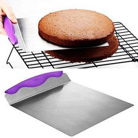[快速出貨]8寸蛋糕安全轉移鏟板 麵包披薩底托行動器 食品級不銹鋼 烘焙工具 創時代 新年春節送禮
