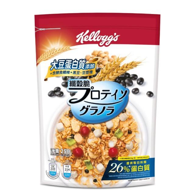家樂氏蛋白纖穀脆早餐穀物脆片-黑豆豆乳250g 添加植物性蛋白