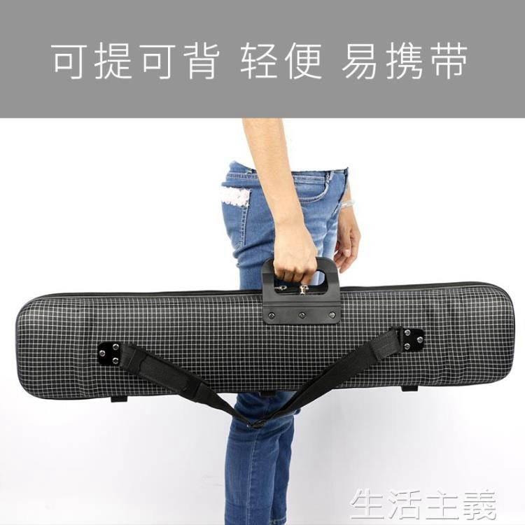 二胡琴盒輕體盒可提可背輕便防水抗壓二胡盒子方格二胡盒樂器配件