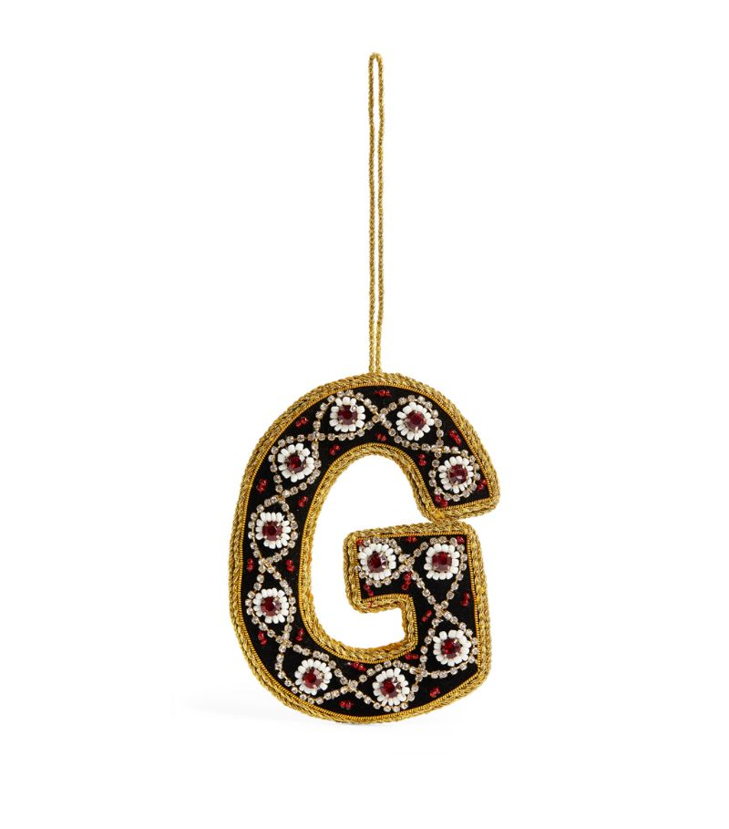 Tinker Tailor Jewelled Letter G Tree Decoration