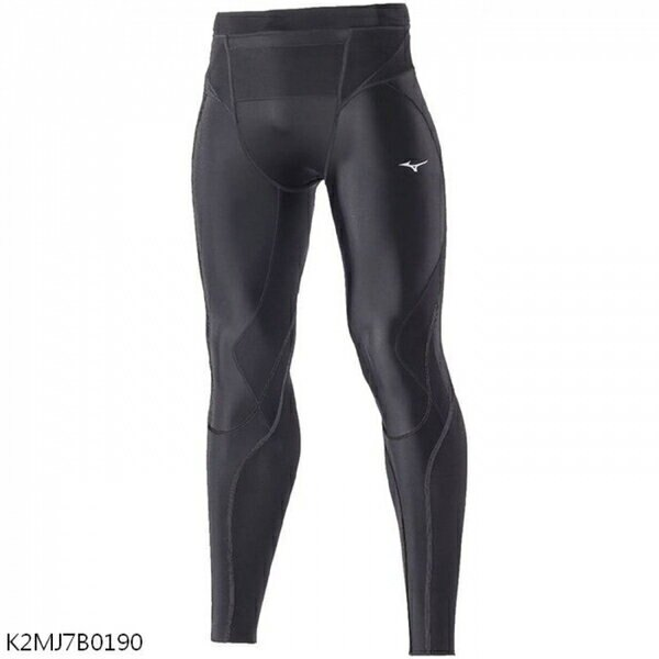Mizuno BG5000II [K2MJ7B0190] 男 緊身褲 全長 運動 慢跑 吸汗 快乾 美津濃 黑