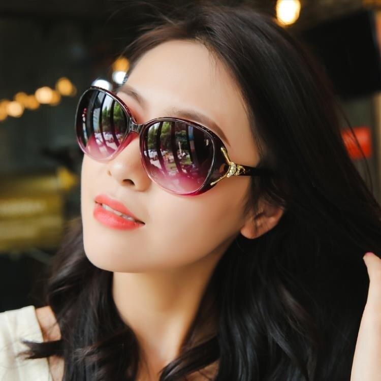 [折扣不斷]太陽鏡 墨鏡新款偏光太陽鏡圓臉女士墨鏡女潮防紫外線gm眼鏡韓版大臉ins