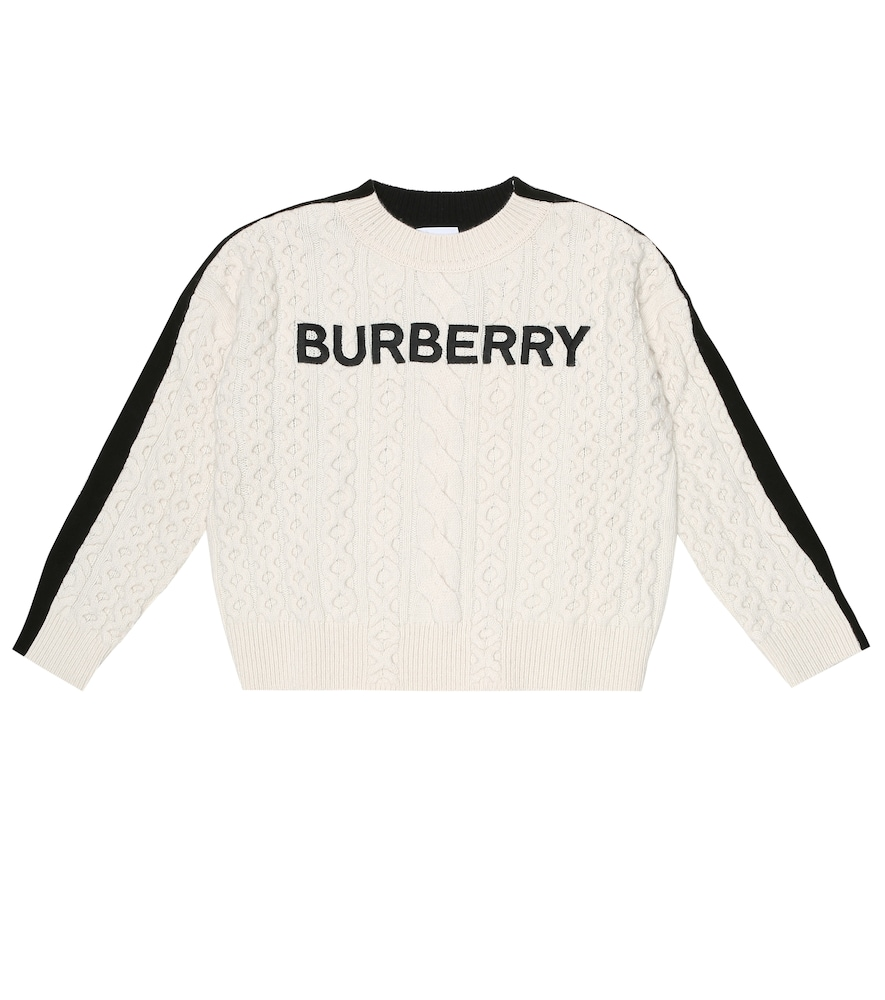 Logo embroidered wool-blend sweater