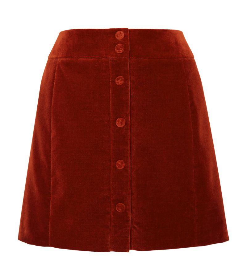 Saint Laurent Corduroy Mini Skirt