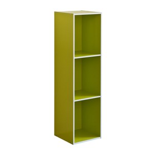 系統簡約加高三格櫃-綠色