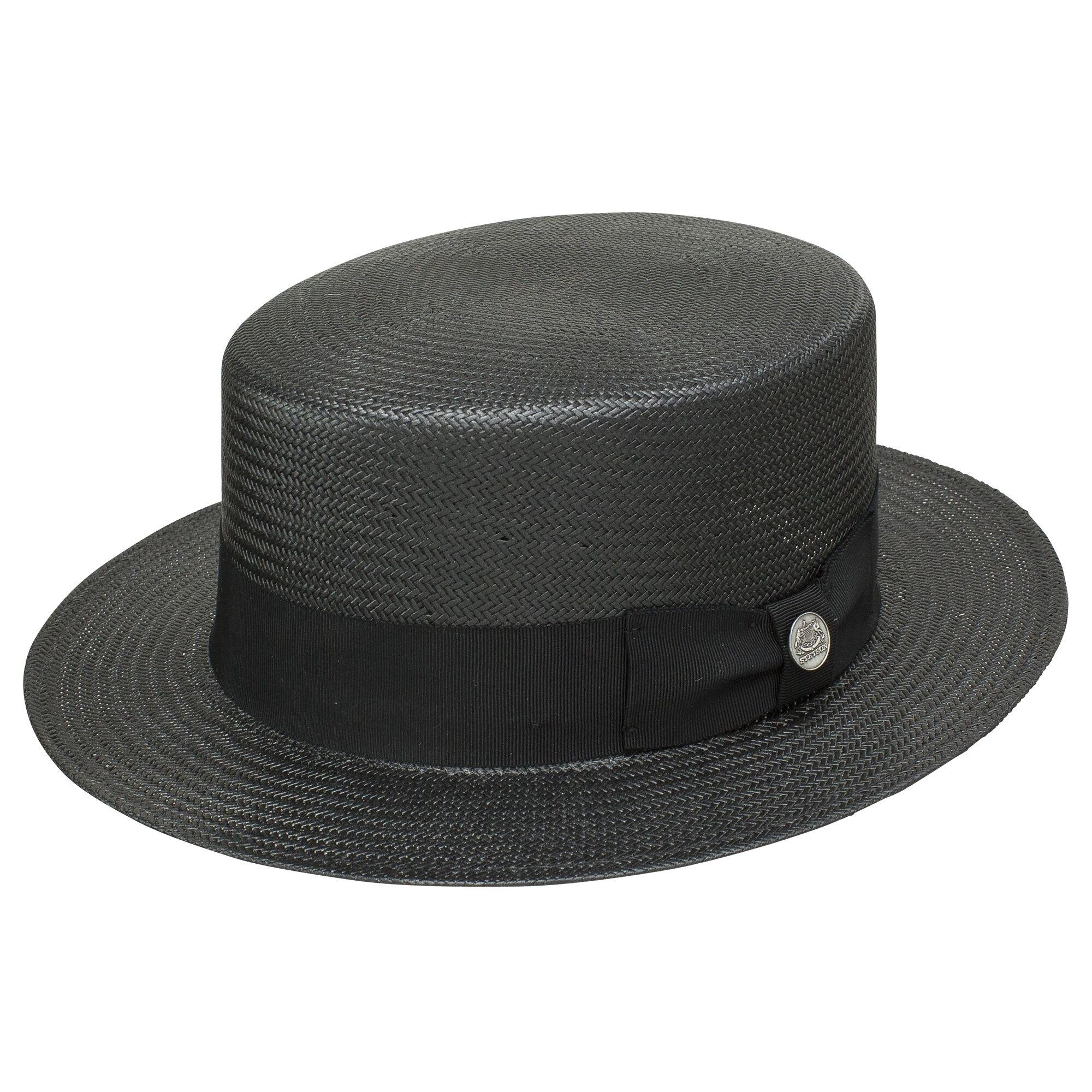Stetson Keeneland - Straw Fedora Hat (Closeout)