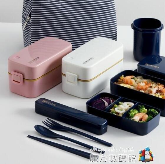 網紅雙層分隔加熱飯盒可愛微波輕便上班族少女心便攜保溫餐盒套裝