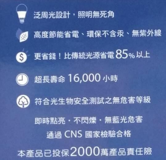 TATUNG LED節能球泡 3W 晝光色/燈泡色~省電燈泡 LED燈泡《八八八e網購