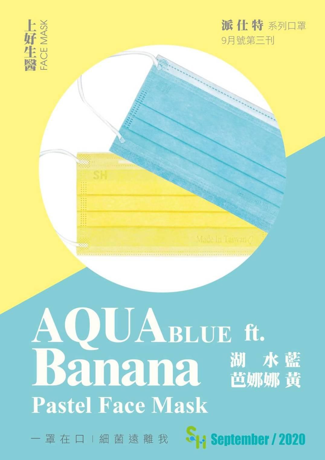 【上好生醫】成人醫療口罩50片/盒(湖水藍) AQUA 042773