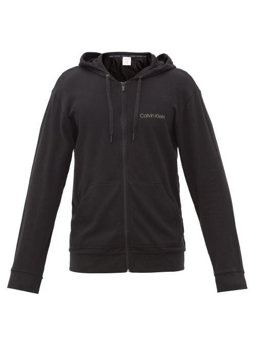 Calvin Klein Underwear - Logo-print Cotton-blend Jersey Hooded Sweatshirt - Mens - Black