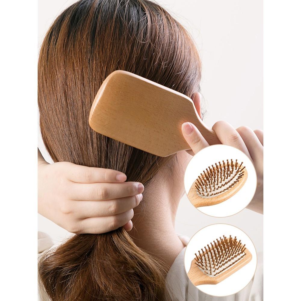 居家家櫸木防靜電氣囊梳子頭皮按摩梳女木頭順發卷發梳木梳氣墊梳 -