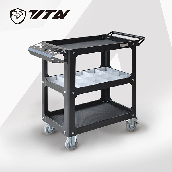 【TITAN泰坦】TH-7043M 專業型移動工具車/作業車-DIY-附零件分類盒10入 (整理 收納 汽機車維修設備)
