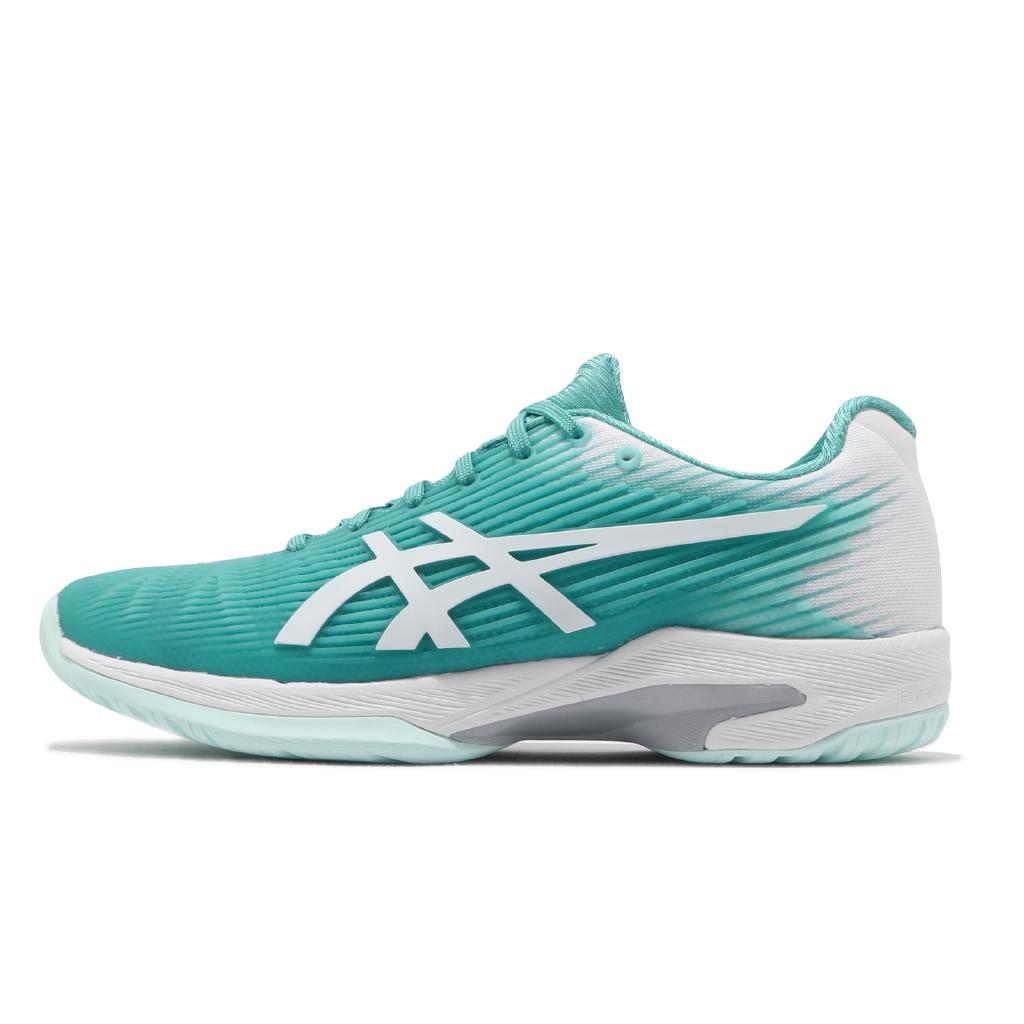 Asics 網球鞋 Solution Speed FF 女鞋 綠 白 速度型 專業 【ACS】 1042A002-300