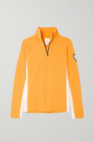 We Norwegians - Voss 美利奴羊毛混纺珠地布上衣 - 橙色 - medium
