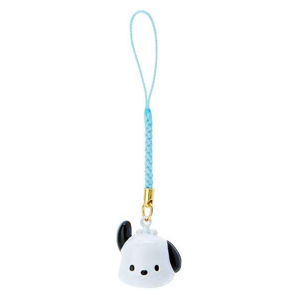 小禮堂 帕恰狗 造型鈴鐺吊飾 鈴鐺鑰匙圈 金屬吊飾 (白綠 大臉) 4550337-76024