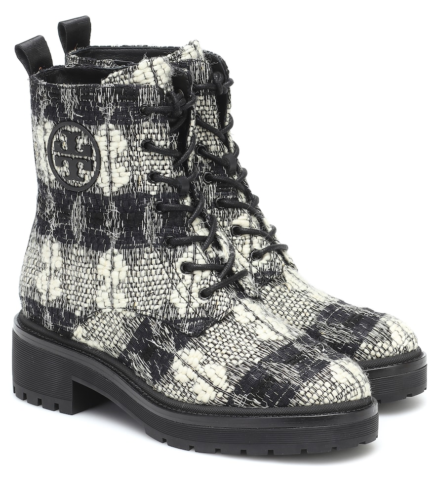 Miller checked ankle boots