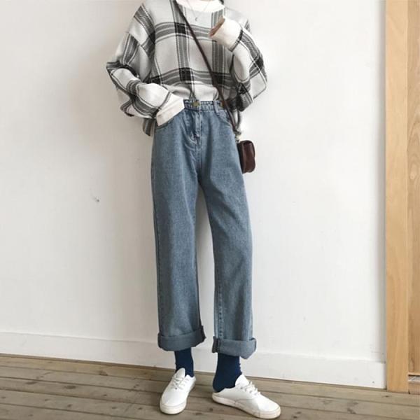 ( 促銷全場九五折 ) 胯大腿粗女褲初春款新款大碼女裝胖妹妹網紅洋氣早春牛仔褲