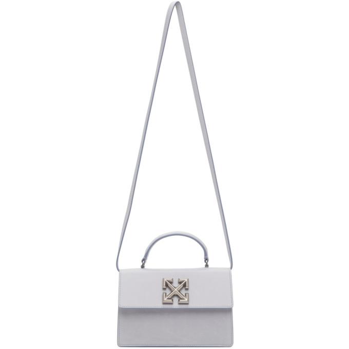 Off-White 灰色 1.4 Jitney 褶皱手提包