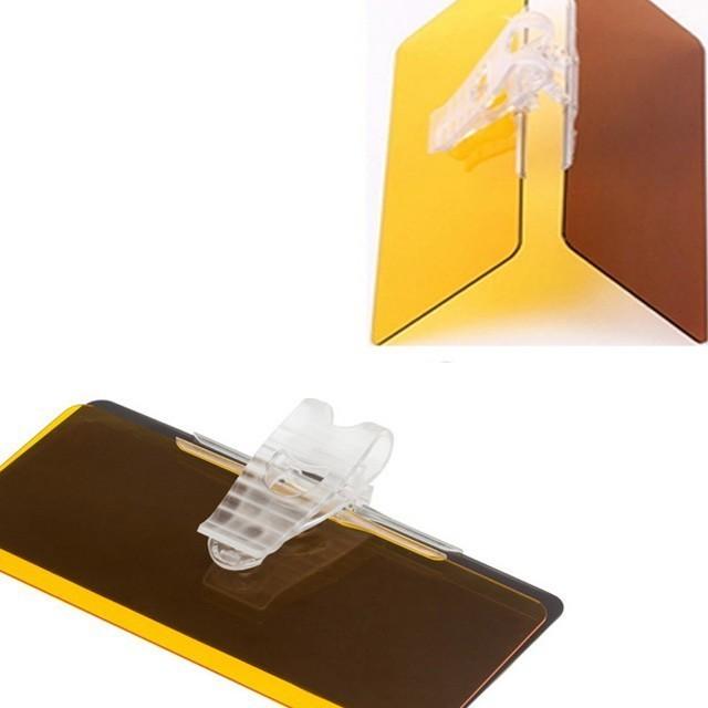 二合一汽車防眩目鏡遮陽鏡c00310 - 強力擦車布+汽車防眩鏡
