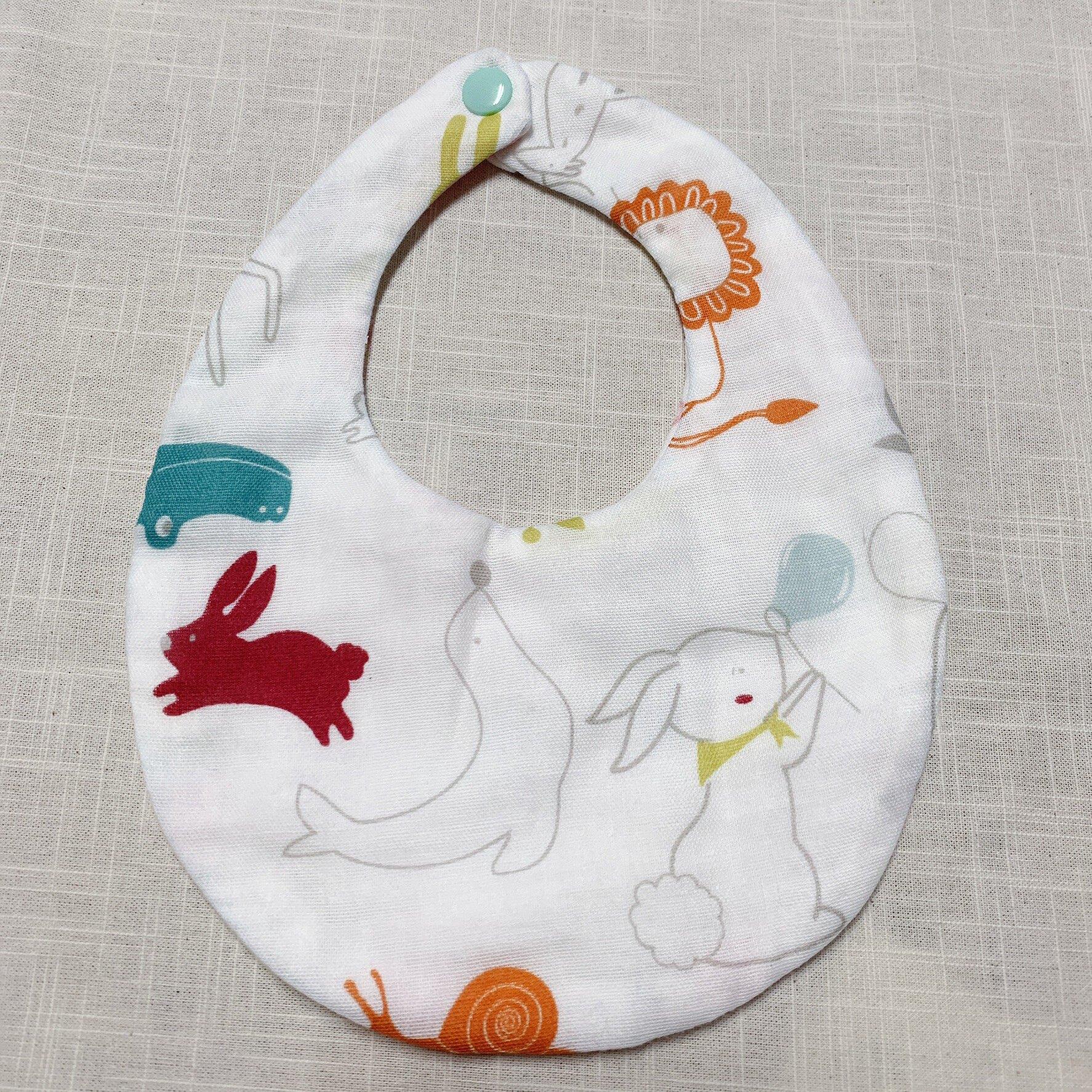 超吸水二重紗寶貝圍兜 (適用0-2歲寶寶)