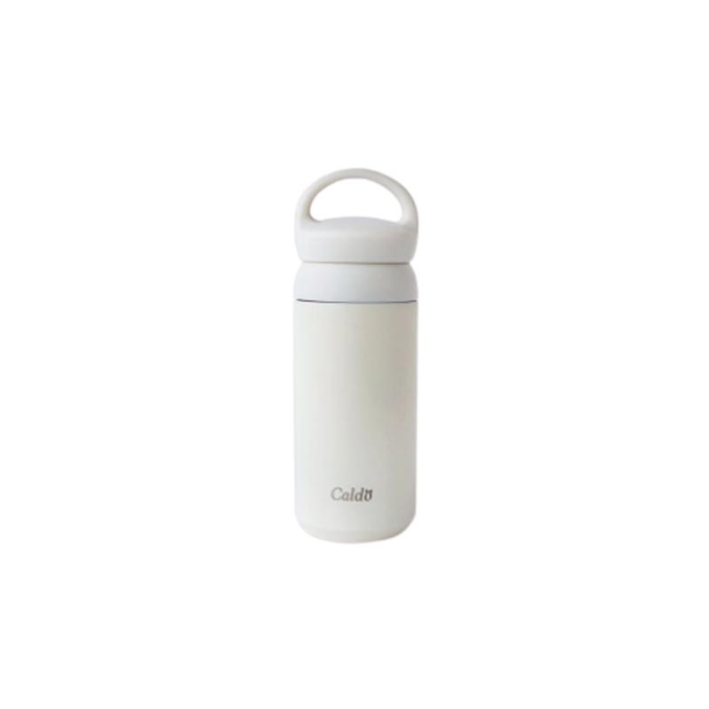 [Caldo]無印質樸隨身不鏽鋼保溫瓶 350ml-清晨白