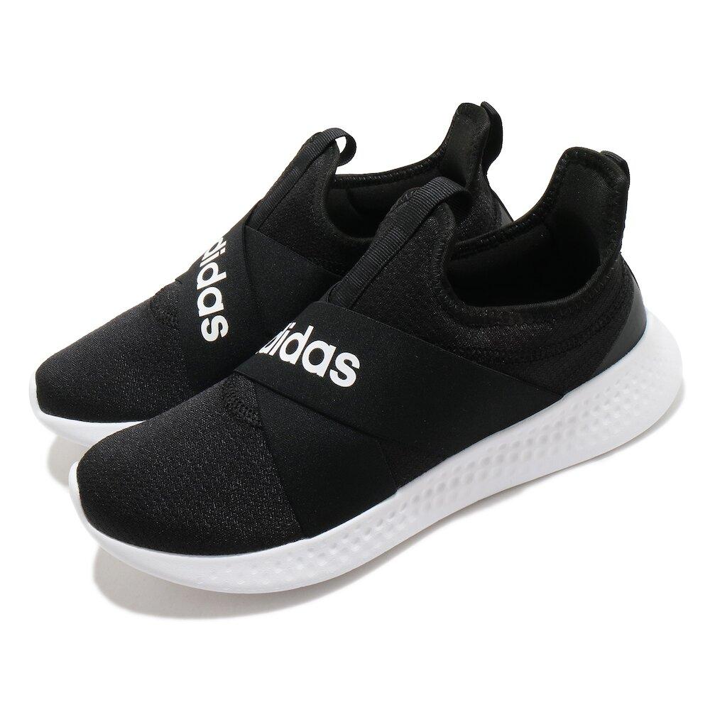 ADIDAS 休閒鞋 Puremotion Adapt 女鞋 愛迪達 襪套式 無鞋帶 好穿脫 黑 白 [FX7326]