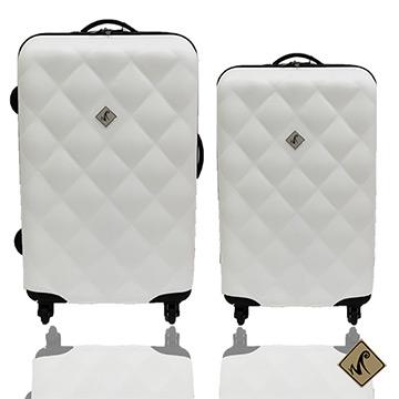 Miyoko俏皮菱格紋系列經典二件組(24+20吋)輕硬殼旅行箱/行李箱