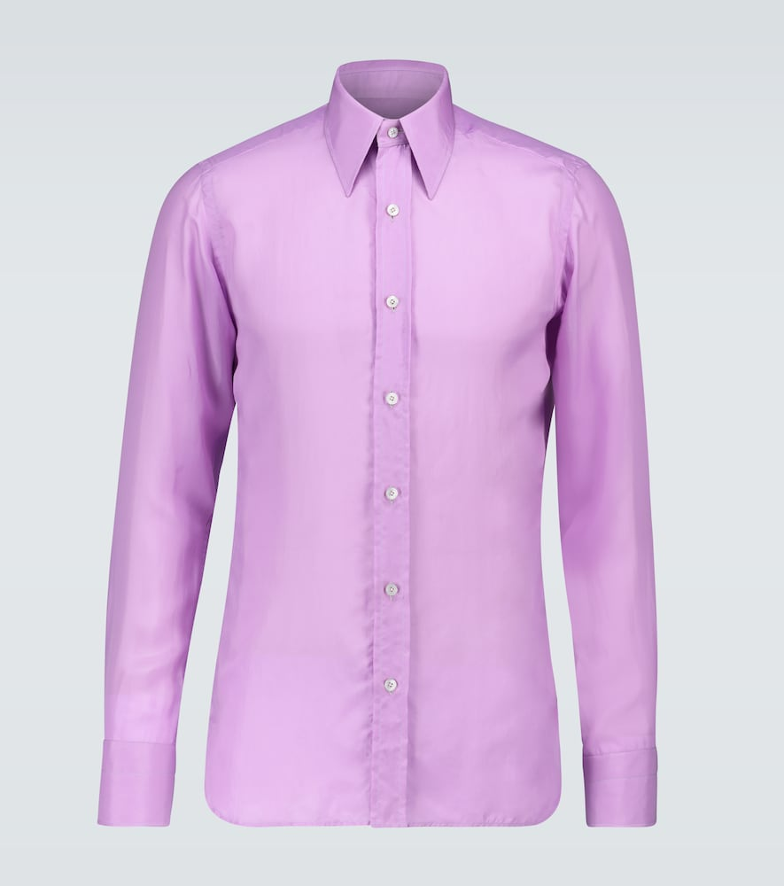 Slim-fit shirt with side panels