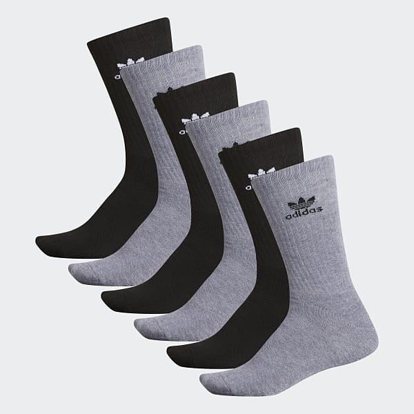 【現貨秒寄】 adidas Originals Crew Sock 長襪 灰色 白色 休閒 運動 透氣 舒適 襪子 1雙入 CH7676