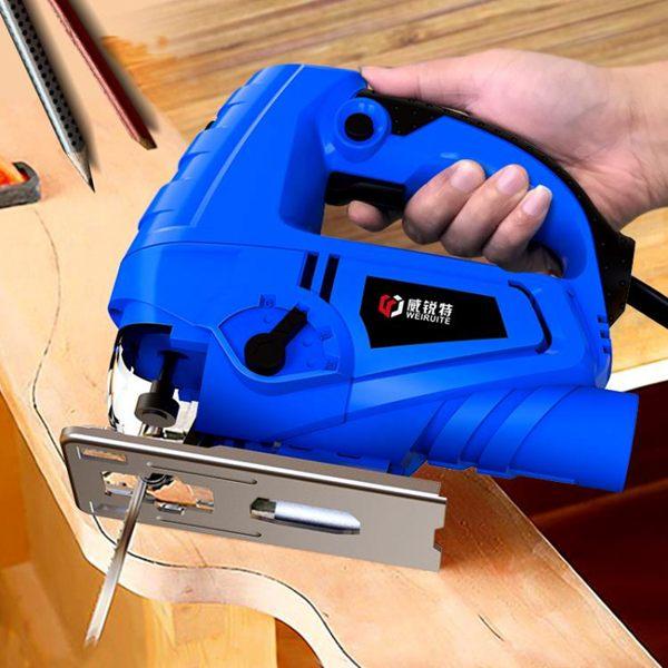 手電鋸 威銳特電動曲線鋸家用電鋸多功能往復木板線鋸迷你切割機木工工具全館促銷限時折扣